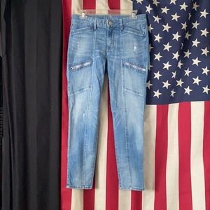White House Black Market Cropped Jeans
